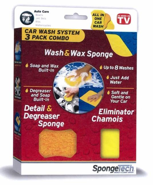 SPONGETECHS – chytrá houba – trojbalíček na mytí automobilu